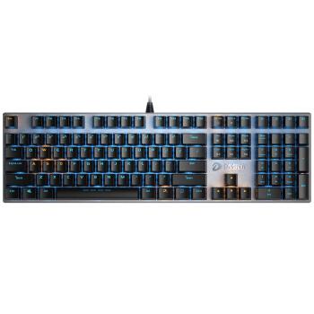 DAREUマシニスト108鍵盤機械合金版単光キーボードメカニンカルボルドゲームミッキーボンド有線キーボード黒銀黒軸
