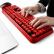 サイドス(Sades)V 2020無線静音キーボードマウスセット円形チョコレートボタンマウスセットオフィス用アップルノートパソコン黒赤色