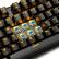 賽徳斯(Sades)烽影単色backlait金属ゲームメカニンボンドコンピュータUSB家庭外設LED付走馬灯有線食べ鶏キーボード(黒橙光青軸)