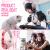 本手の雪月メニスカスボンドマウスセットピンクケーブルゲームボタンマウスセット男女生デスクトップパソコンCFチキンLOL青軸バーライト外装3点セット【ピンクキーボード+ピンクミックスマウス+猫耳イヤホンUSB版】