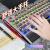 狼途(LANGTU)104鍵盤黒軸青軸メカルボデスクトップパソコンのノートにUSBケーブルLED付き金属を接続して鶏ゲームネットカフェのキーボード旗艦版チョコレートを食べて金属灰をめっきします。黒軸