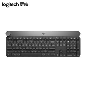 ロジクロック(Logitech)Craft無線Bluetoothキーボードインテリジェントコントロールノブ設計高速充電適応バーライト多設備接続切替灰色