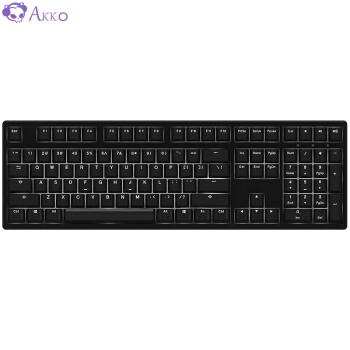Akko 3108 S白光メニカルキーボンド有線キーボードゲームボックスボックス108キー全サイズシングルCherry CHERRY軸黒光CHERRY赤軸自営