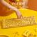 ibc W 210メカルキーボンド2.4 Gワイヤレスゲームボックス108キー原工場cherry軸CHERRY軸ワイヤレスメカルキーボンド黄色の赤軸