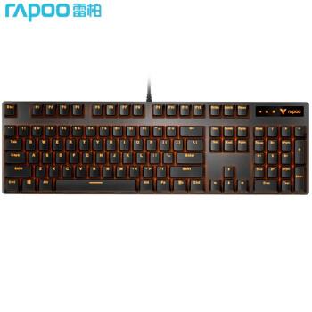 ユニック(Rapoo)V 500 PRO単光版メカニンカルキーボンド有線キーボードゲームボックス104キー単光キーボードで鶏キーボード黒軸を食べる