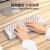AJAZi 610 T Bluetoothワイヤレスメタカルボ61キーTypec-C充電パックゲームオフィス携帯(無線有線ダブルモード全押し無沖)白黒軸【デュアルコネクション17種のランプ効果】